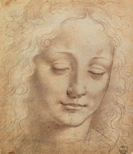 Leonardo_da_vinci,_Female_Head, 1500-е годы